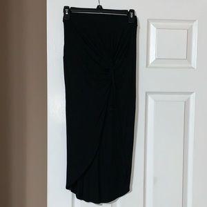 Charlotte Russe Black High Low Skirt